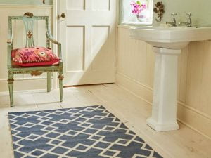 Juno Navy Weaver Green Rug