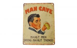 Man Cave Retro Sign